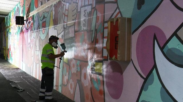 Aplicación antigraffiti 2