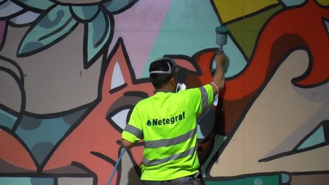 Aplicación antigraffiti
