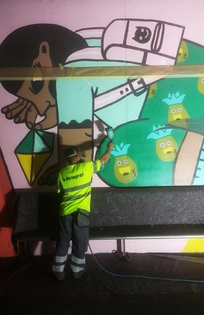 Aplicación tratamiento antigraffiti